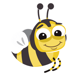 Bee cartoon bug