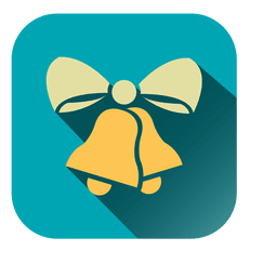 Bells ribbon square icon