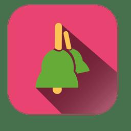 Ícone quadrado de sinos