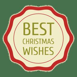 A melhor etiqueta desejo do natal