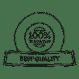 Beste Qualität garantiert Siegel
