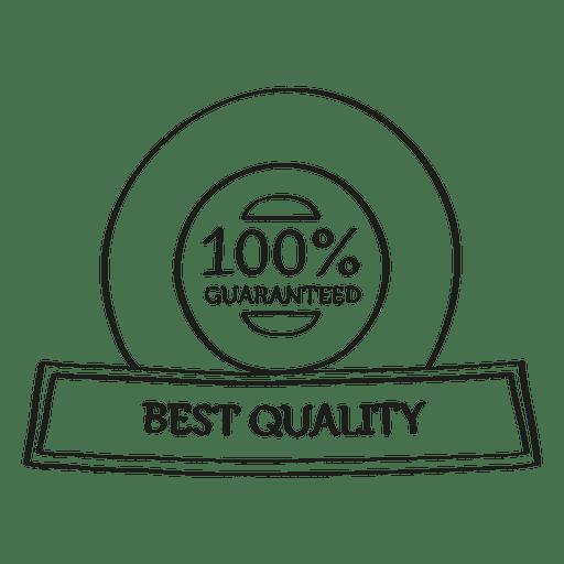 Beste Qualität garantiert Siegel Transparent PNG