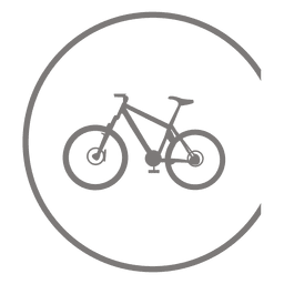 Bicycle icon inside circle