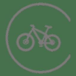 Icono de la bicicleta dentro del círculo