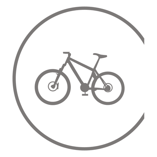 Bicycle icon inside circle Transparent PNG