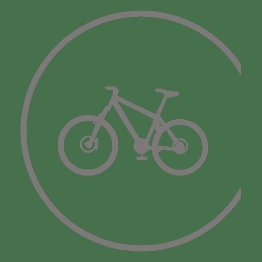 Icono de bicicleta dentro del círculo Transparent PNG