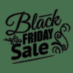 Schwarzer Freitag Ornament Label