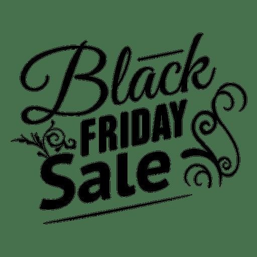Schwarzer Freitag-Verzierungsaufkleber Transparent PNG