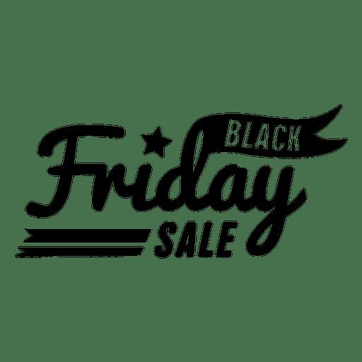 Insignia de venta viernes negro Transparent PNG