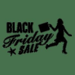 etiqueta de compras Viernes Negro