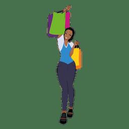 Mujer negra de compras