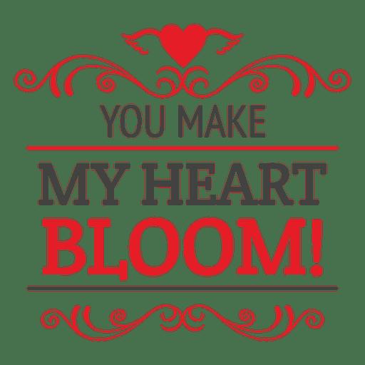 Citação de coração dia dos namorados Transparent PNG