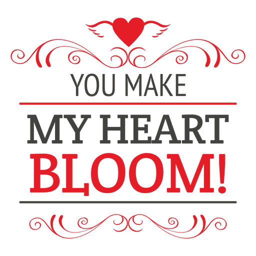 Valentines Heart Quote Transparent PNG