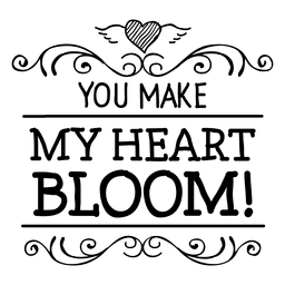 Bloom Heart Valentine's Label