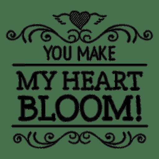 Blüte Herz Valentines Label Transparent PNG