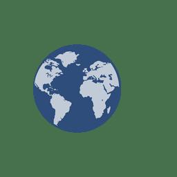Blue earth globe