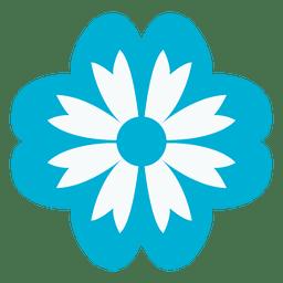 ícone floral azul