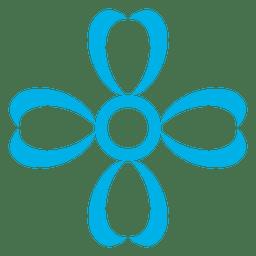 Blue flower icon 1
