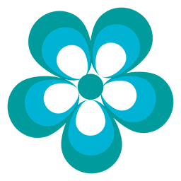 Blue flower icon 2