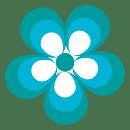Icono de flor azul 2