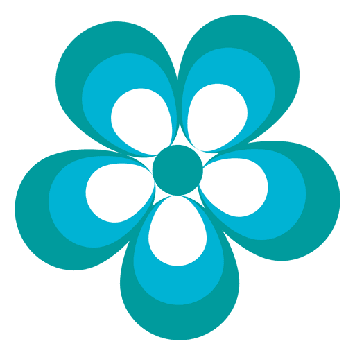 Blue flower icon 2