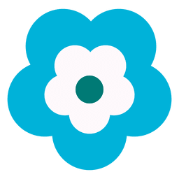 Blue flower icon 3