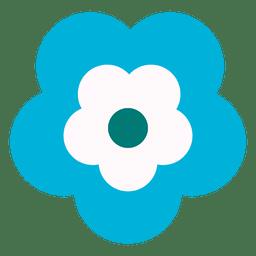 Icono de flor azul 3