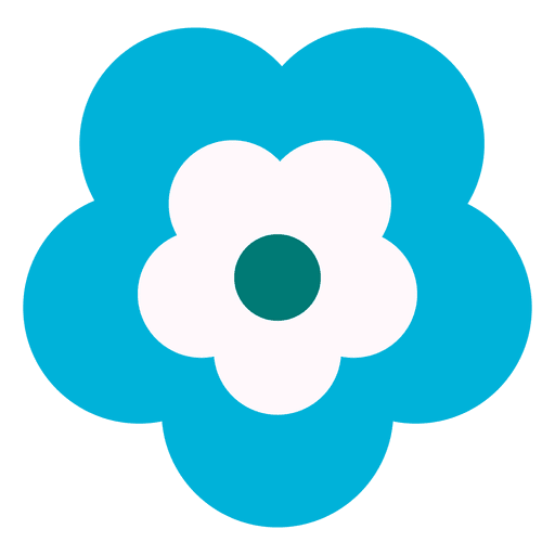 Blue flower icon 3 Transparent PNG