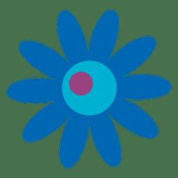 Blaues Blumen-Symbol 8