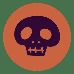 Blue skull circle icon