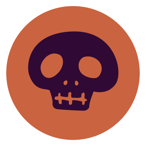 Blue skull circle icon Transparent PNG
