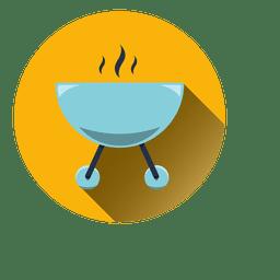 Boiling bowl round icon