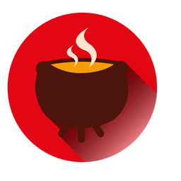 Boiling fire pot icon