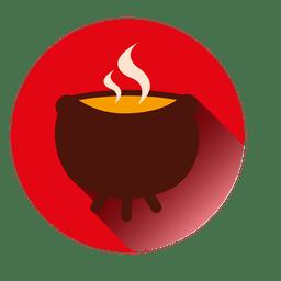 Ícone de pote de fogo a ferver