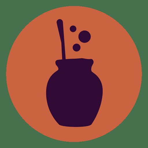 Boiling pot circle icon Transparent PNG