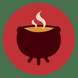 Boiling pot circle icon 2