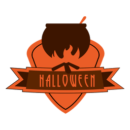 Rótulo de halloween pote de ebulição