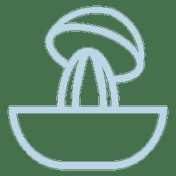 Icono de línea de bote de tazón