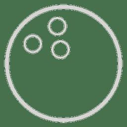 Bowlingkugeln-Symbol