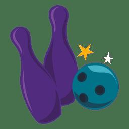 Bowling bowl pins