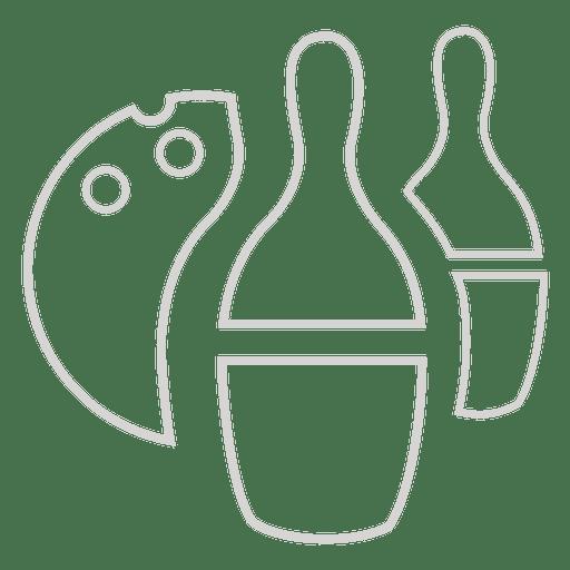 Icono de bolos Transparent PNG