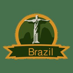 Brazil landmark emblem