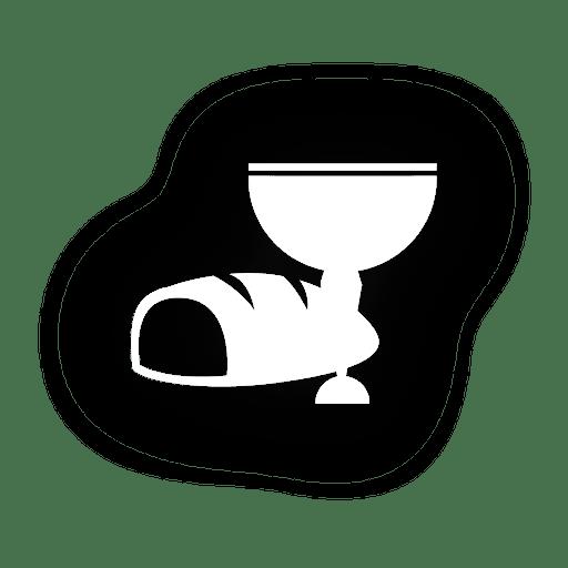Icono de pan vino