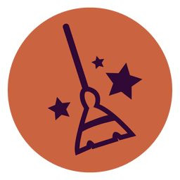 Broom circle icon