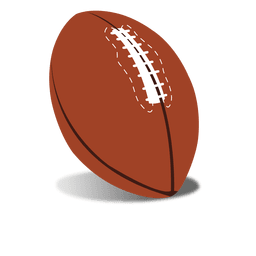 Bola de rugby marrom
