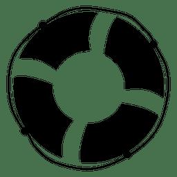 Bóia ícone plana