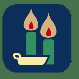 Icono cuadrado de velas encendidas