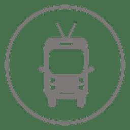 Icono de circulo de bus