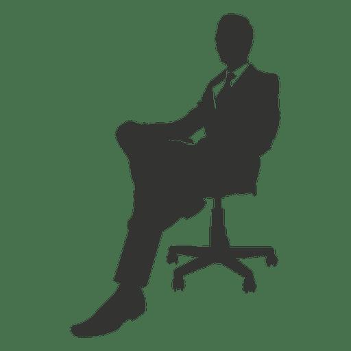 Business executive sitting