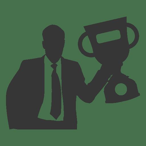 Homem negócios, levantamento, troféu Transparent PNG